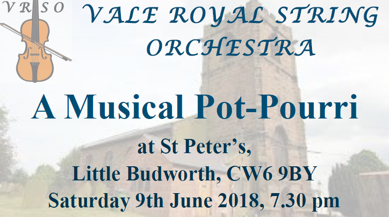 Vale Royal String Orchestra – Saturday 9th June