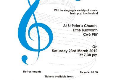 Bostock Singers Saturday 23rd March