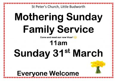 Mothering Sunday Service – 11am, 31st March
