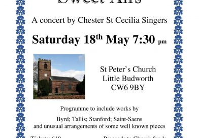 A concert by Chester St Cecilia Singers – Saturday 18th May