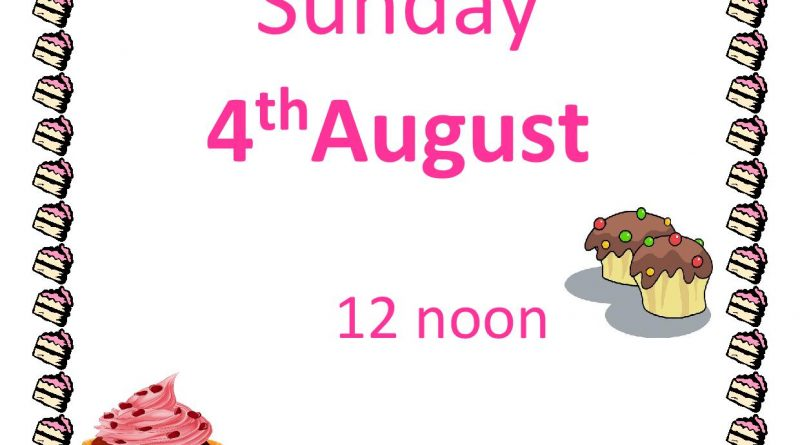 Cake Sale – Sunday 4th August