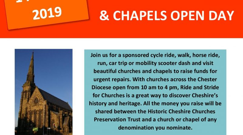 Ride & Stride – Church is open on 14th September