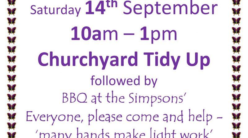 Church Yard Tidy Up – 14th September 2019