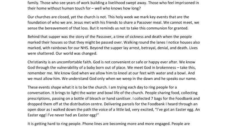 2-4-2020 Holy Week
