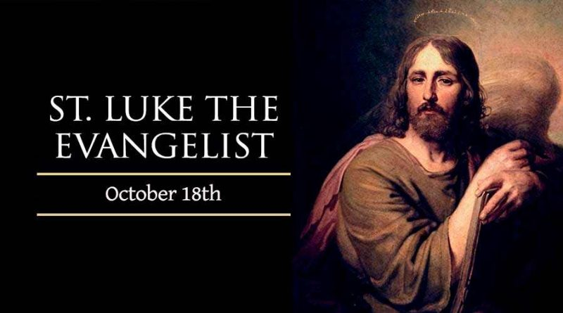 18th October 2020 – St. Luke