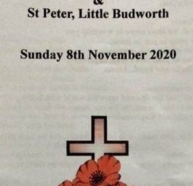 8th November – Remembrance Sunday Service